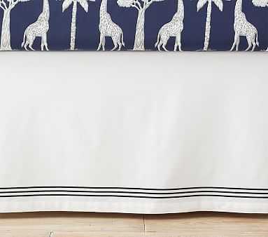 Organic Grand System Crib Skirt, Cribskirt, Navy - Pottery Barn Kids