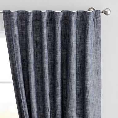 "True Blue Denim Blackout Curtain, 84"", Denim - Pottery Barn Teen"