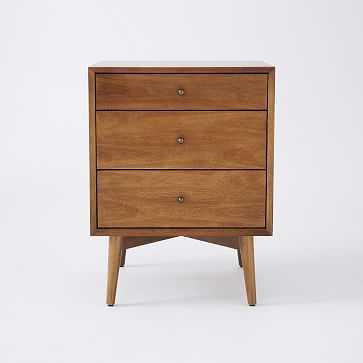 Mid-Century Media - 3-Drawer Side Table (Acorn) - West Elm