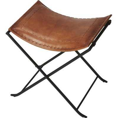 Remus Leather Accent Stool - Wayfair