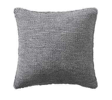 """Duskin Textured Pillow, 20"""", Gray - Pottery Barn"""