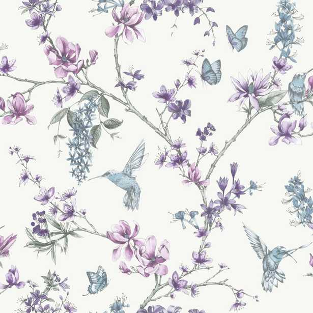 Simplicity Simplicity Pearl/Lilac Removable Wallpaper, Purple - Home Depot