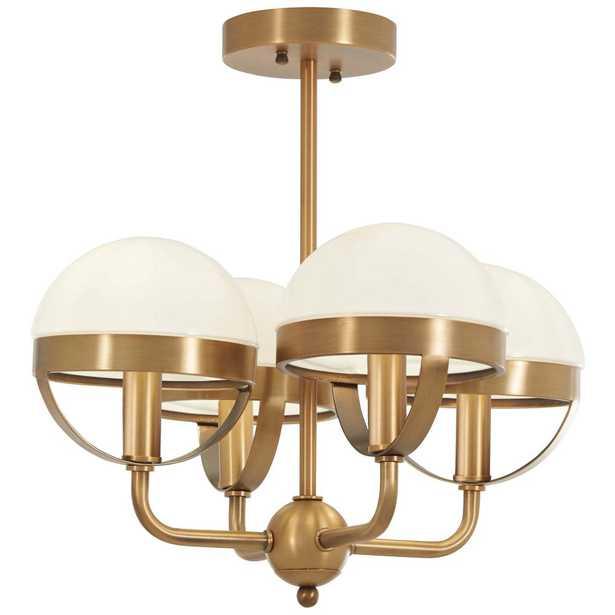 Minka Lavery Tannehill 4-Light Aged Brass Semi-Flushmount Light - Home Depot