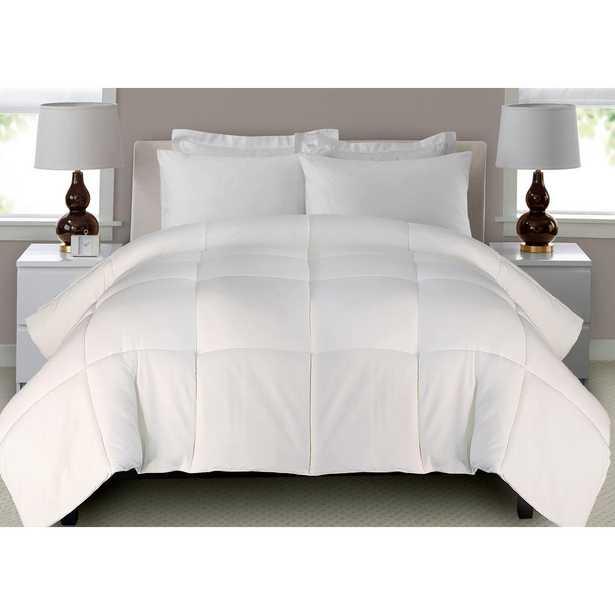 Microfiber Down Alternative White Twin Comforter Set, Whites - Home Depot