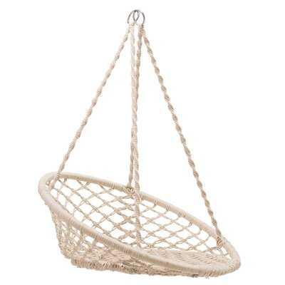 Colusa Hanging Handwoven Cotton Papasan Chair - Wayfair