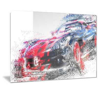 'Red and Black Sports Car' Graphic Art - Wayfair