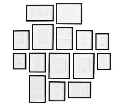 Gallery in a Box, Black Frames, Set of 15 - Pottery Barn