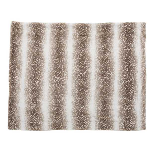 Toscana Dusty Brown Faux Fur Throw Blanket - Home Depot