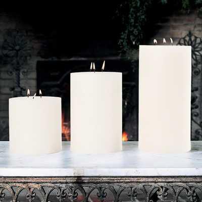Unscented 3 Wick Pillar Candle - Wayfair
