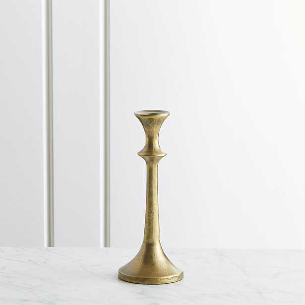 "Emmett Antique Brass Taper Candle Holder 9.25"" - Crate and Barrel"