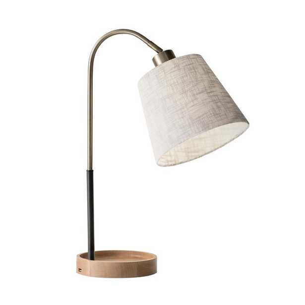 Adesso Jeffrey 21 in. Brass Table Lamp - Home Depot