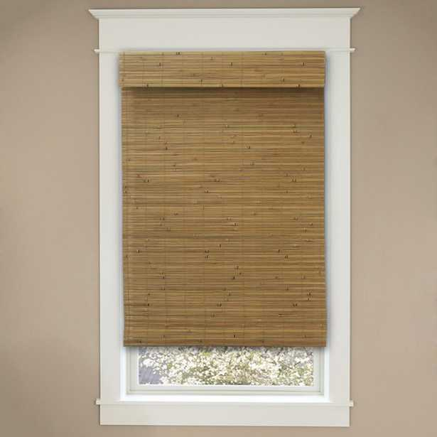 Home Decorators Collection Cordless Honey Bamboo Roman Shade - 36 in. W x 72 in. L (Actual Size 35.5 in. W x 72 in. L) - Home Depot