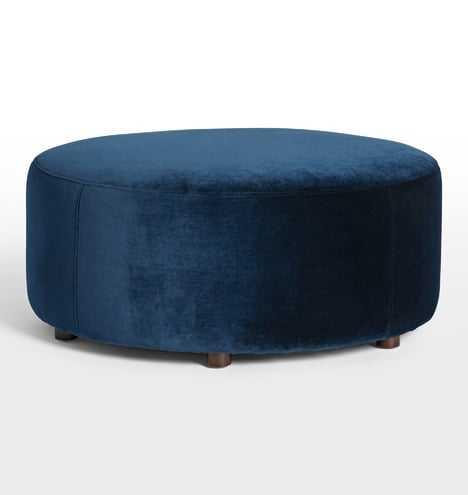 Worley Large Round Ottoman - Rejuvenation