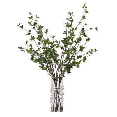 Cherry Leaf Branch in Decorative Vase - Wayfair