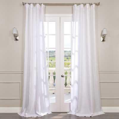 "Pyrogi Linen Sheer Rod Pocket Single Curtain Panel - Antique Lace - 84"" - AllModern"