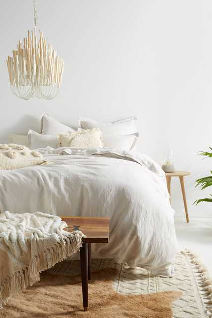 Relaxed Cotton-Linen Duvet Cover - Anthropologie