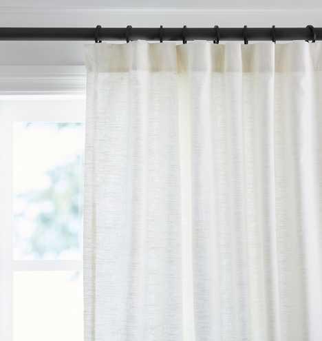 Linen/Cotton Drapery Panel - White - Rejuvenation