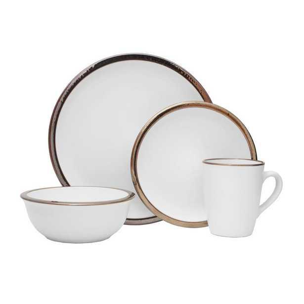 Pfaltzgraff 16-Piece Dylann White Stoneware Dinnerware Set (Service for 4) - Home Depot