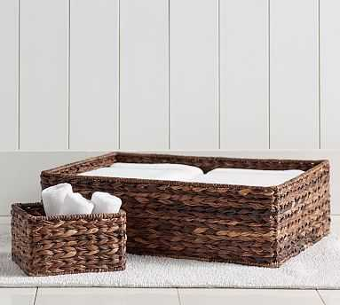 Newport Basket Sink Storage, Havana - Pottery Barn