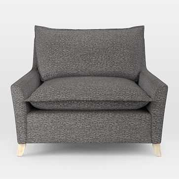 Bliss Down-Filled Chair-and-a-Half, Retro Weave, Feather Gray - West Elm