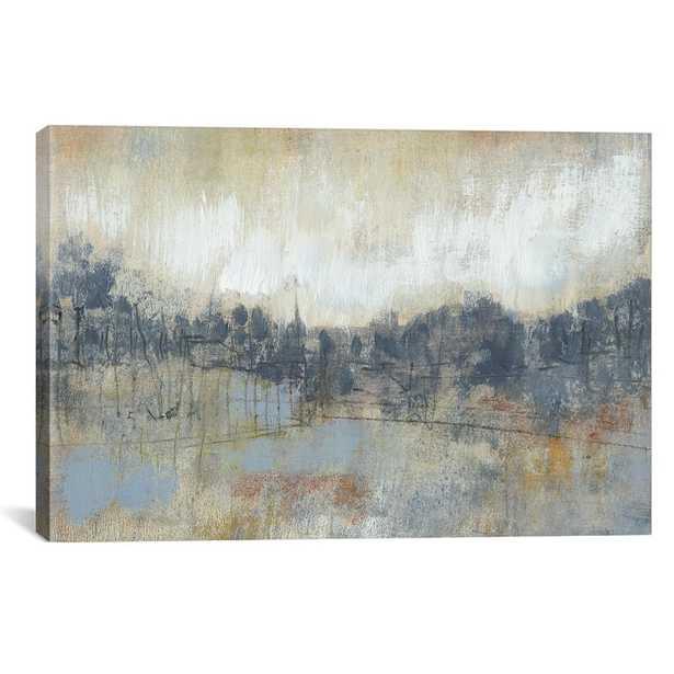 Cool Grey Horizon I by Jennifer Goldberger Canvas Wall Art, Multi - Home Depot