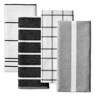 Super Absorbant Waffle Weave Multi-Pack Towels, Black - Williams Sonoma