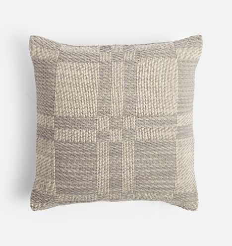 Handwoven Wool Check Pillow Cover - Rejuvenation