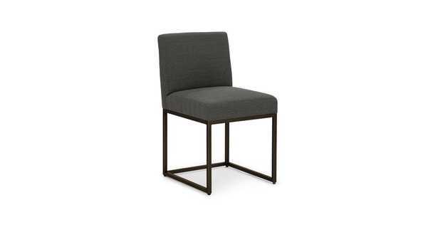Oscuro Cinder Gray Dining Chair, set of 2 - Article