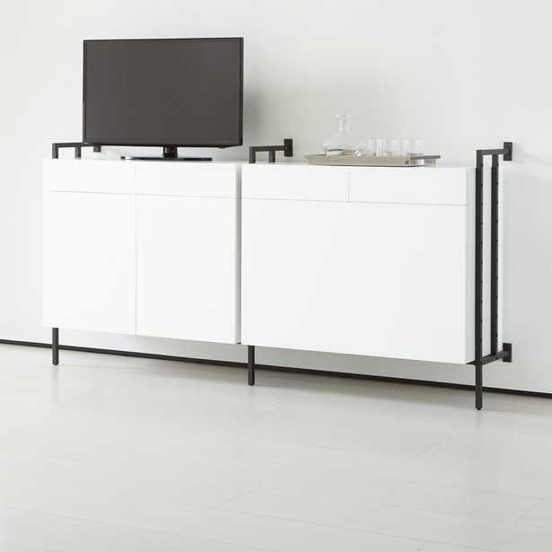 Flex Modular Double Media/Storage Set - Crate and Barrel