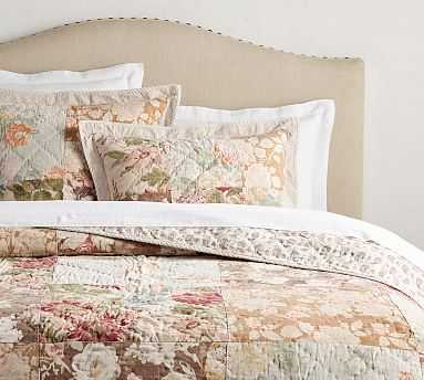 Carolina Floral Patchwork Reversible Quilt, Full/Queen, Multi - Pottery Barn