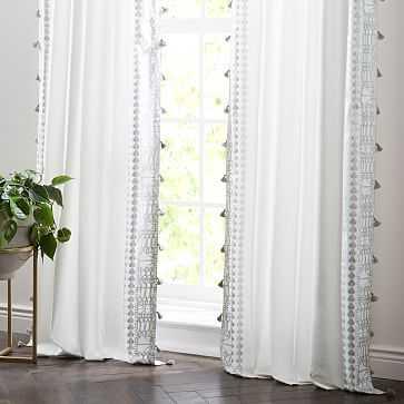 """Amytis Curtain, Silver, 48""""X96"""" - West Elm"""