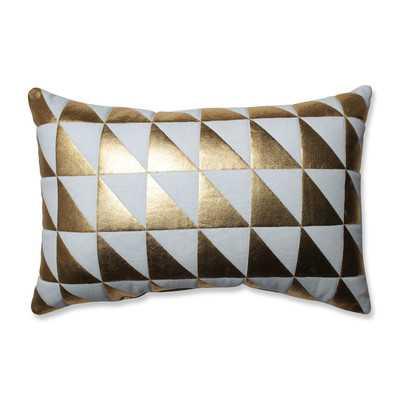Glamour Triangle 100% Cotton Lumbar Pillow - Wayfair