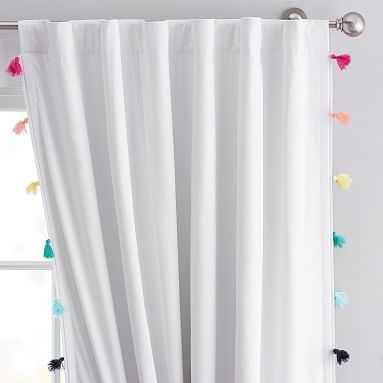 """Tassel Blackout Curtain, 63"""", Rainbow Multi - Pottery Barn Teen"""