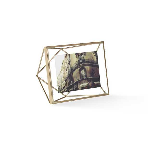 Umbra Prisma 4X6 Matte Brass Picture Frame - Home Depot