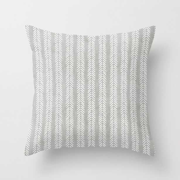 """Mud cloth - Grey Arrowheads Throw Pillow - Indoor Cover (20"""" x 20"""") with pillow insert by Beckybailey1 - Society6"""