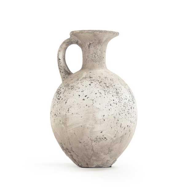 Zentique Terracotta Taupe Decorative Pitcher Vase, Brown - Home Depot
