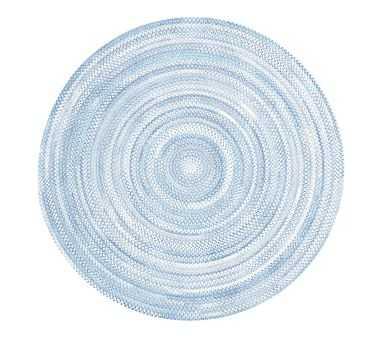 Capel Custom Braid Round Rug, Blue, 5' Round - Pottery Barn Kids