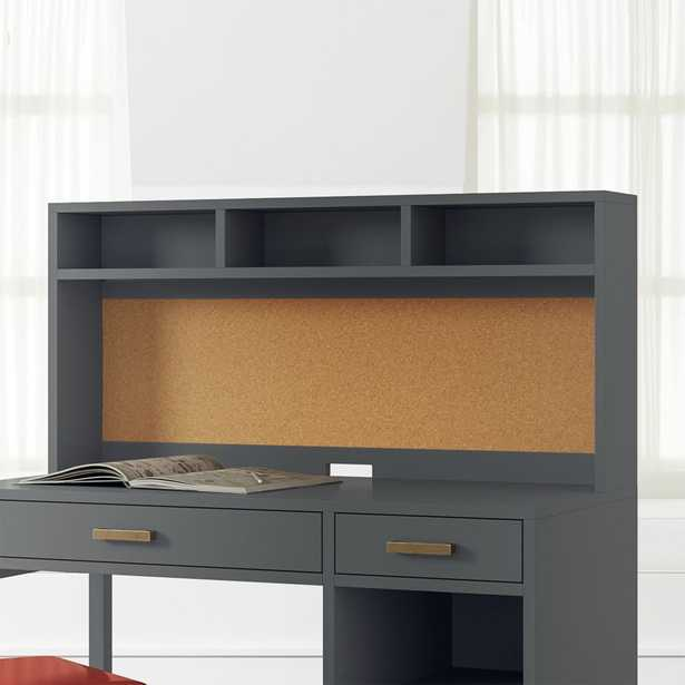 Kids Parke Charcoal Desk Hutch - Crate and Barrel