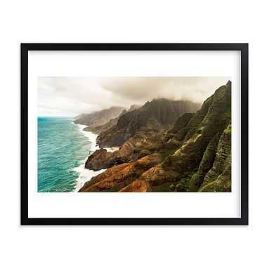 "Na Pali Coast, Kauai, HI Framed Art by Minted(R), 11""x14"", Black - Pottery Barn Teen"