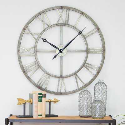 "Oversized Vergara Metal 32"" Wall Clock - Wayfair"