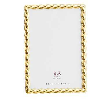 """Rope Plated Frame, Gold - 4 x 6"""" - Pottery Barn"""