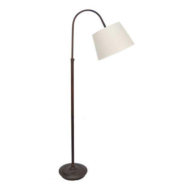 Fangio Lighting 62 in. Oil-Rubbed Bronze Adjustable Metal Arch Floor Lamp - Home Depot