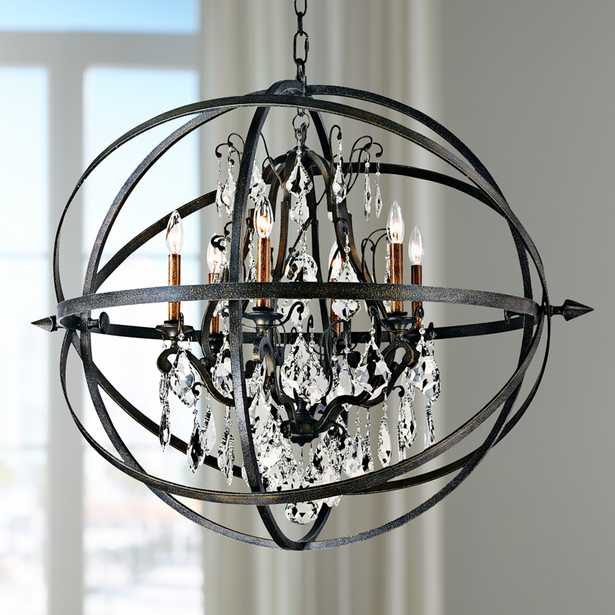"""Byron 33 1/2"""" Hand-Worked Bronze And Crystal Chandelier - Style # X5947 - Lamps Plus"""