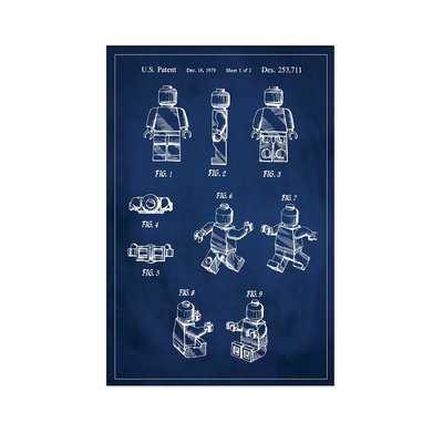 'Lego Man Patent' Graphic Art Print in Blue - Wayfair