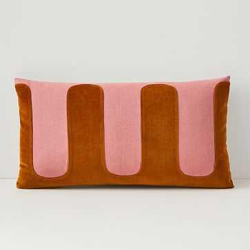 "Pochoir Pillow Cover, 12""x21"", Dark Cardamom - West Elm"