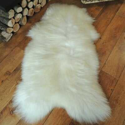 Trammel Soft Sheepskin Ivory Area Rug - Wayfair