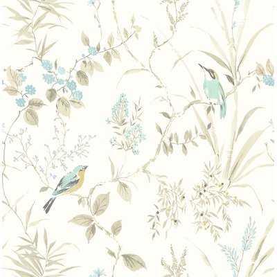 "Barkhampstead Garden 33' L x 20.5"" W Floral and Botanical Wallpaper Roll - Birch Lane"