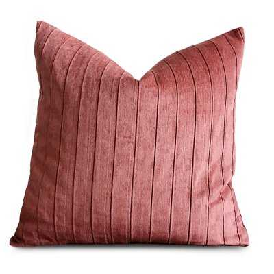 Jansen Raspberry Pleated Luxury Decorative Velvet Pillow Cover - Wayfair