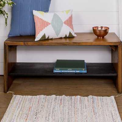 Arocho Solid Wood Shelves Storage Bench - Wayfair