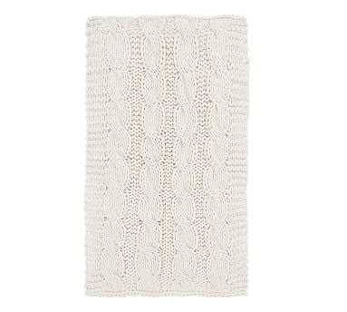 "Colossal Handknit Throw, 44x56"", Ivory - Pottery Barn"